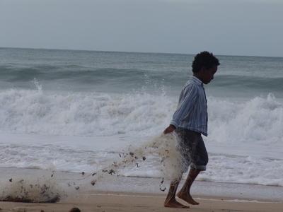 pêcheur de filet